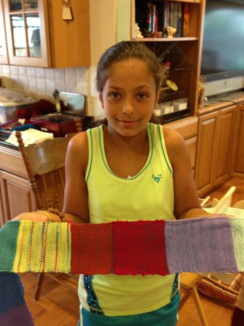 5th grade woven scarf.