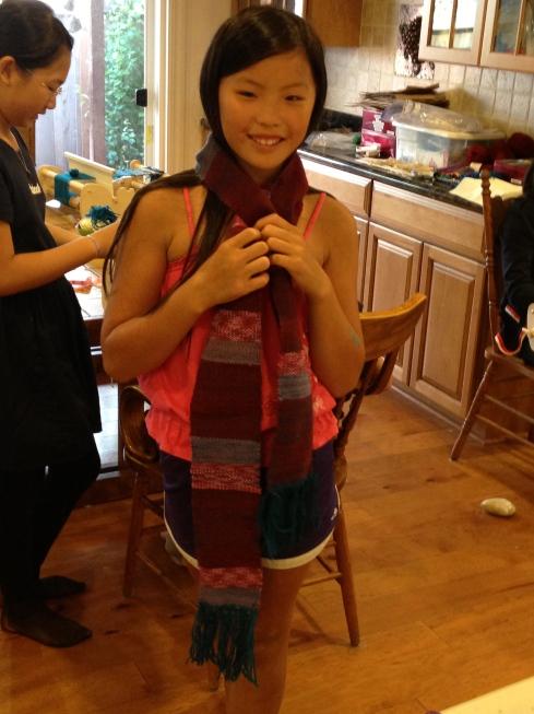 6th grade woven scarf.