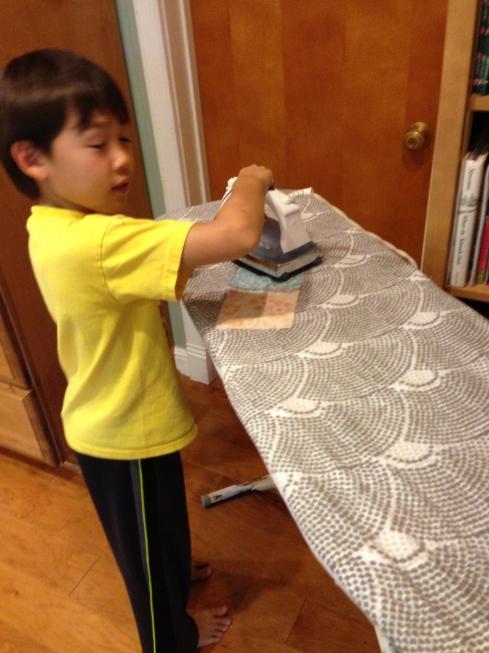 Ironing, ironing, ironing.