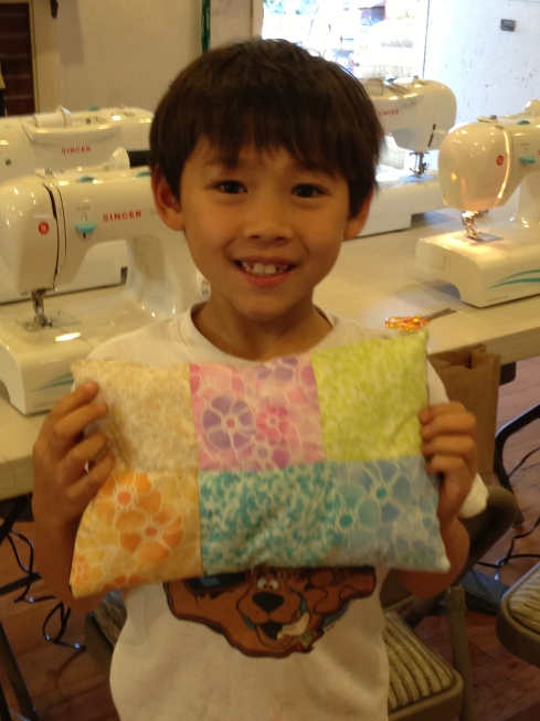 3rd grade patchwork pillow.