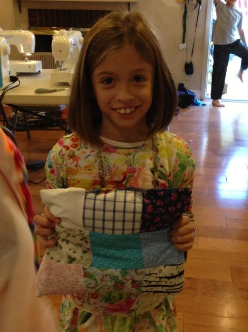2nd grade patchwork pillow.