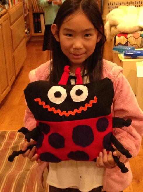 Ladybug pillow.