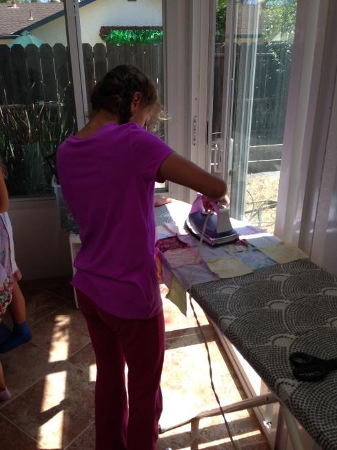 More ironing.