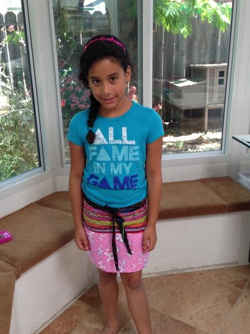 4th grader apron.