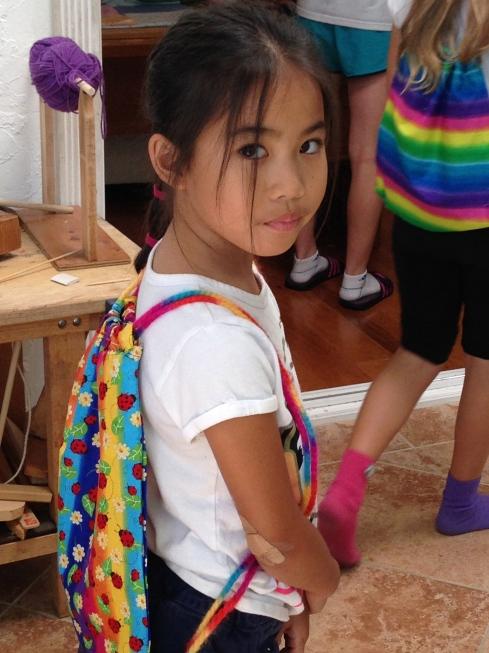 2nd grader backpack.