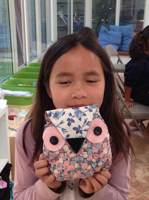 4th grader owl pillow.