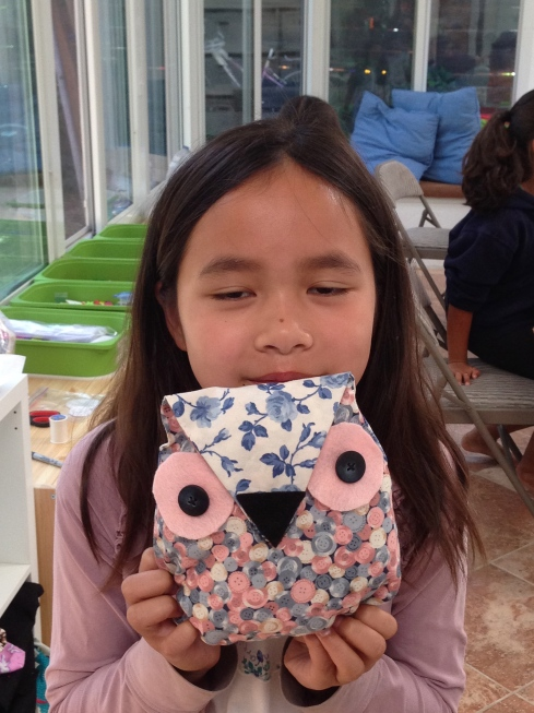 4th grader owl pillow.