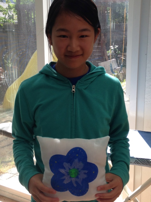 7th grader painted pillow