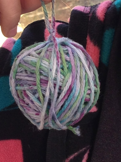 Hand dyed yarn.