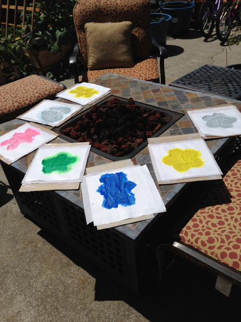 Painted Fabric Squares