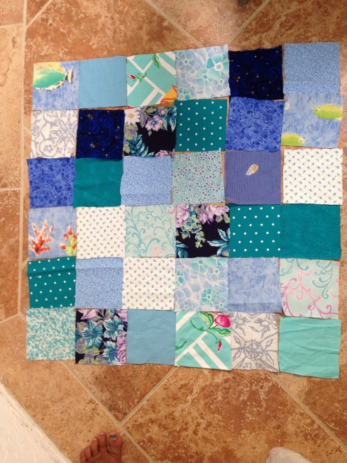 7th grader quilt layout.