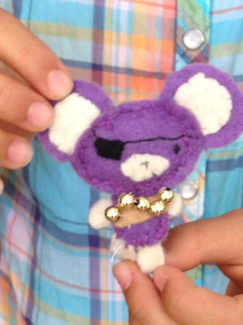 5th grader tiny felt pirate mouse.