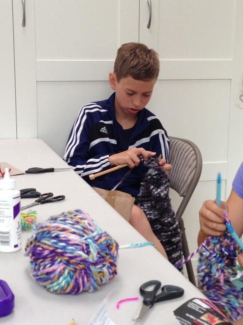 9th grade knitter.
