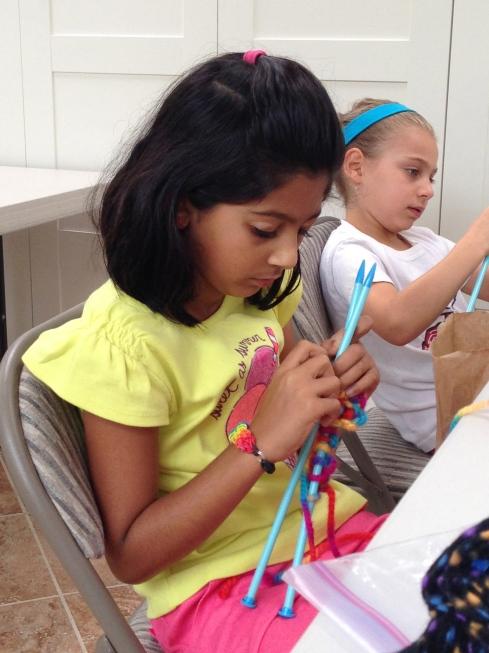 3rd grade knitter.