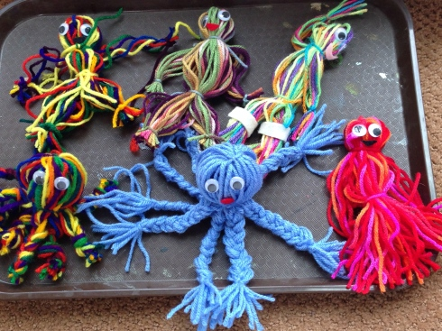 Yarn girls, boys and octopi.