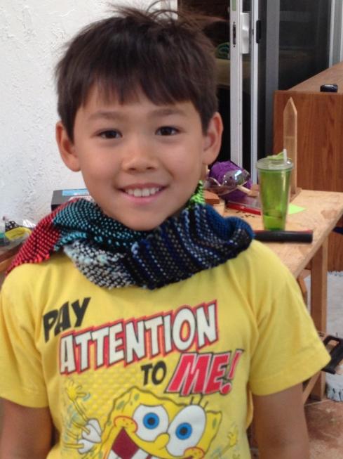3rd grader scarf.