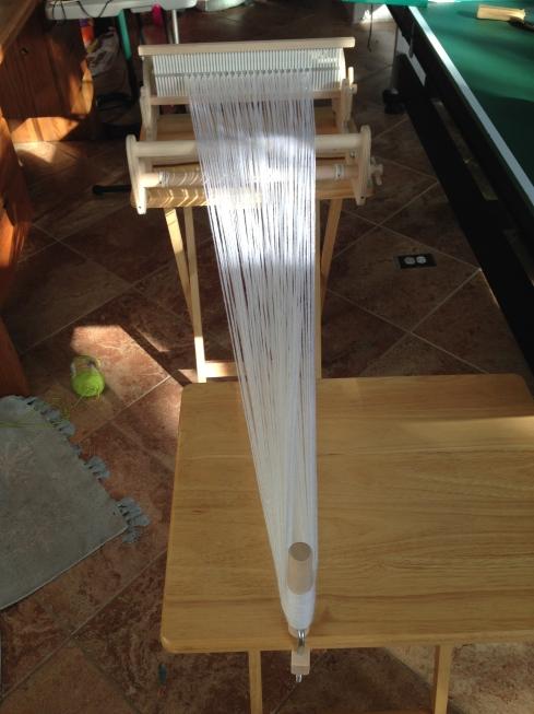 New warp being measured.