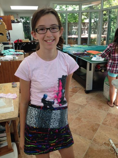 7th grader apron.