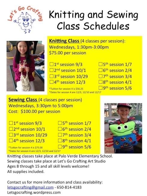2014-2015 Class Schedule.