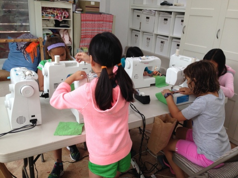 New students learning to use the machines.