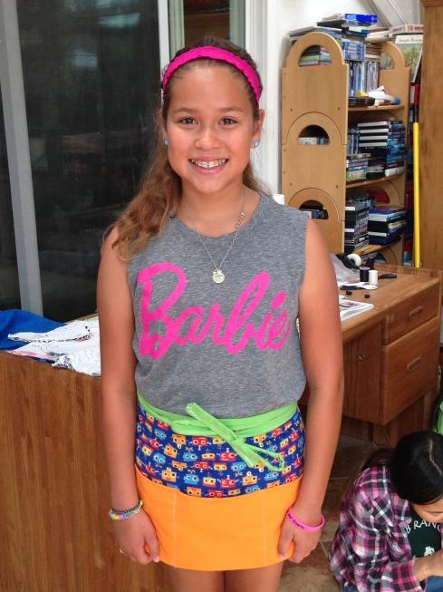 5th grader apron.