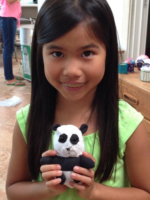 3rd grader mini-panda.
