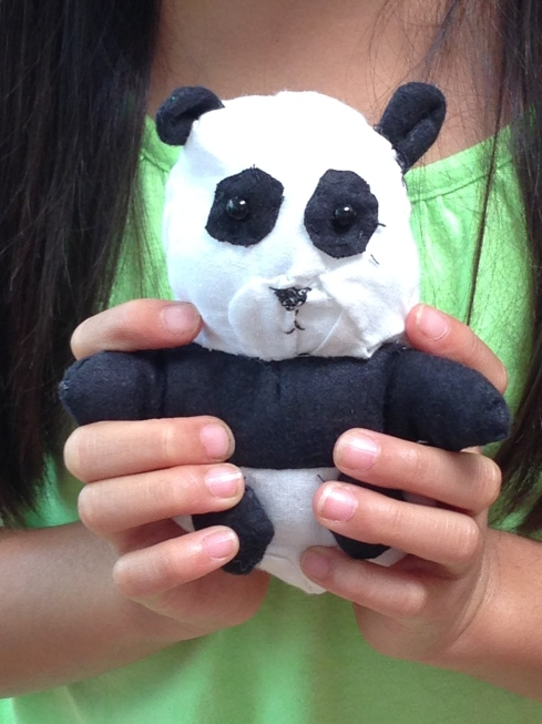 Close-up of mini-panda.