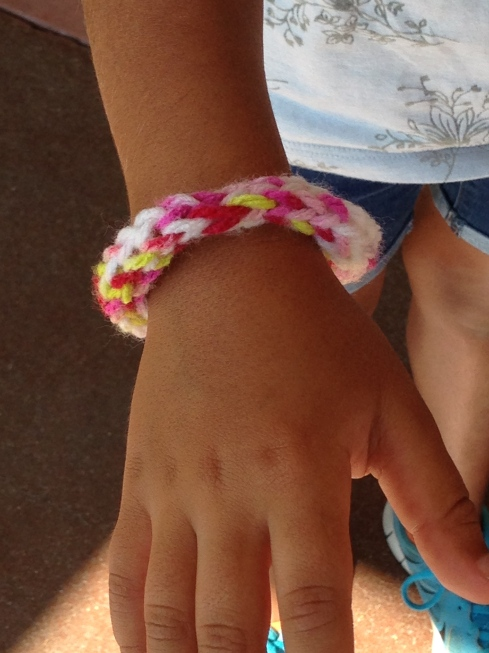 A spool knitted bracelet!