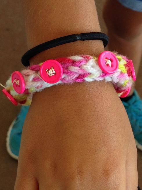 Finished, embellished bracelet!