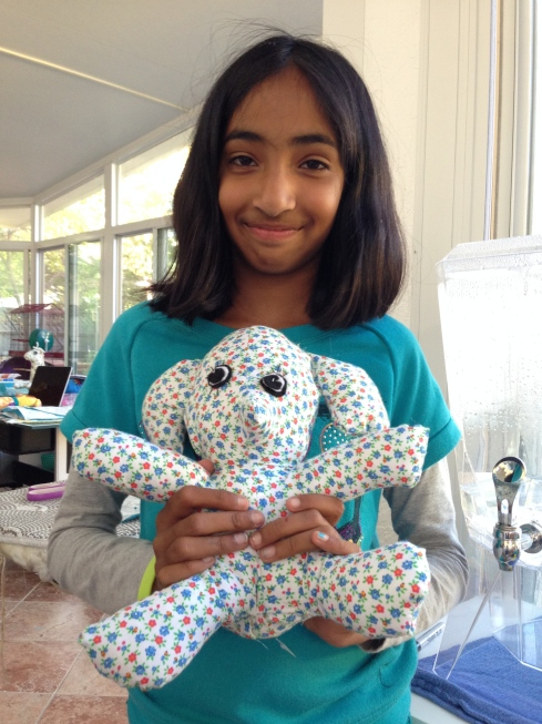 4th grader elephant stuffie.