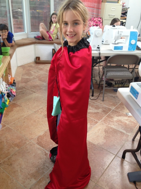 4th grade cape made at home and brought in.