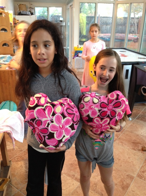 Heart pillows!