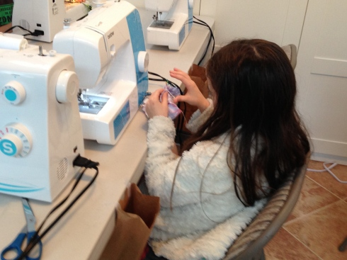 And  more sewing!
