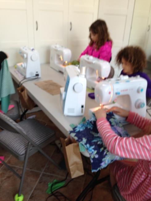 More sewing.