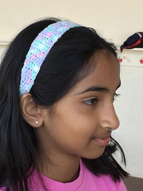 4th grade crochet headband.