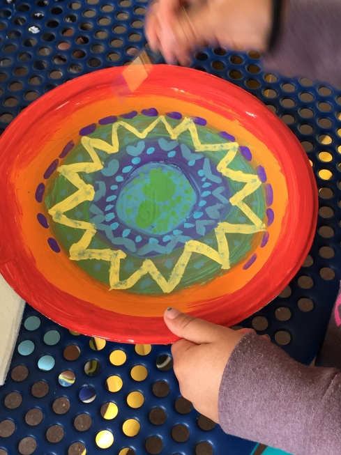 Adding details to our circle weaving backgrounds.