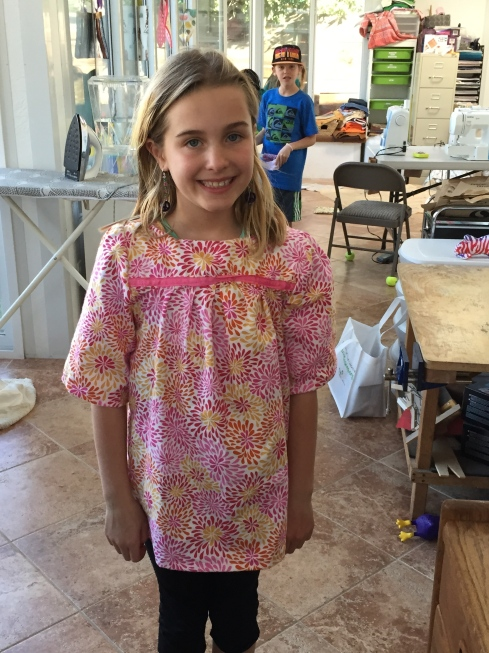 TAAA DAAA!!  Another blouse by a 4th grader.