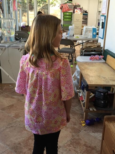 Back of same blouse.