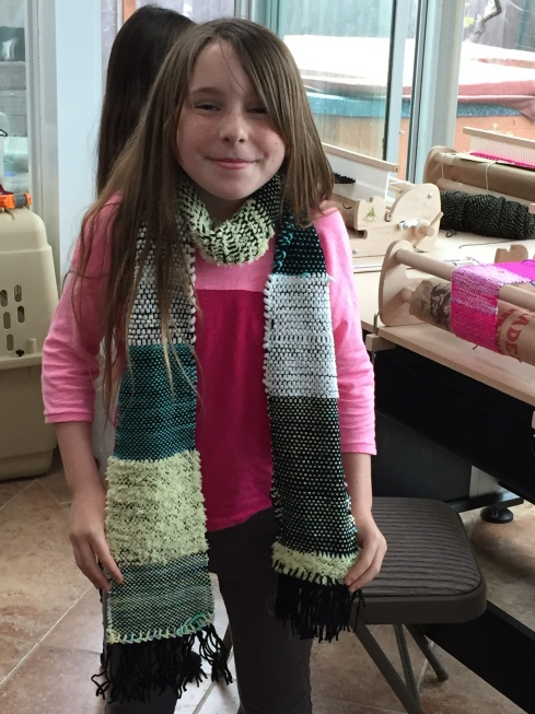 Yeah!  Another finished scarf!