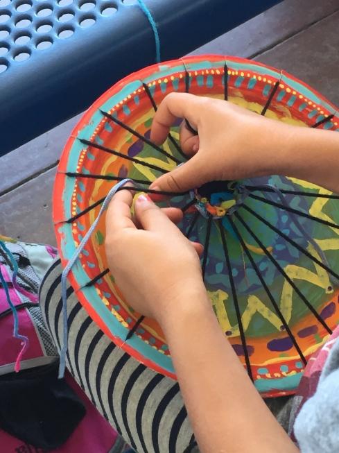 More circle weaving.