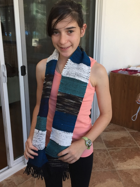 Beautiful woven scarf!