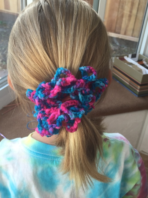 Hair scrunchie.