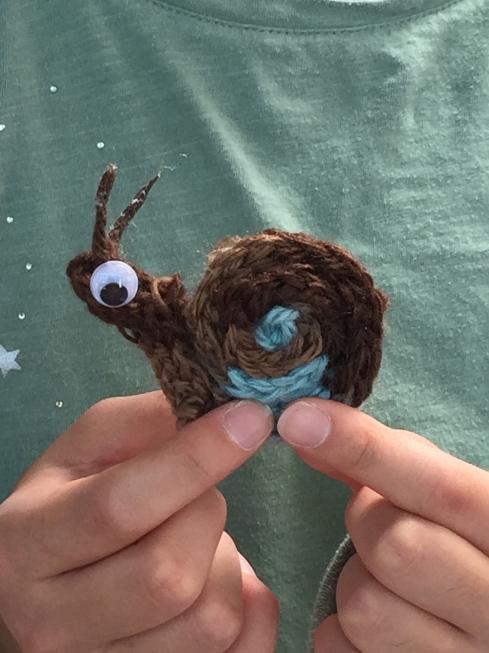 Closeup of snail.