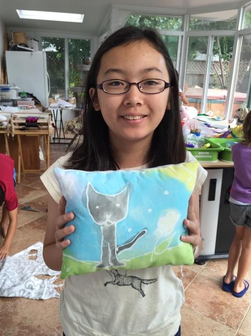 Batik fabric pillow