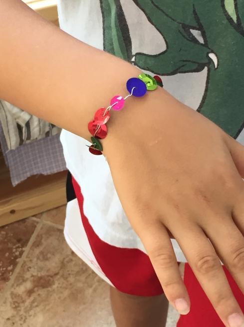 Sequin bracelet.