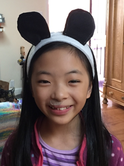 Panda Ears for Halloween.