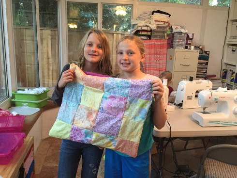 Finished quilt to donate to the animal shelter. Such a generous idea.