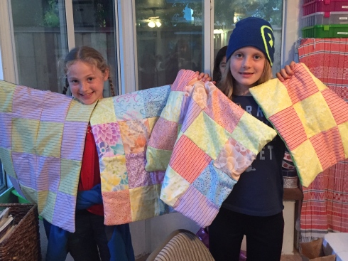 Four quilts to donate!
