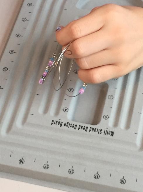 Start of a design for her bracelet.